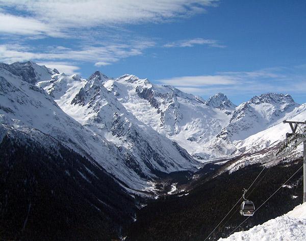 Ущелье Алибек зима
